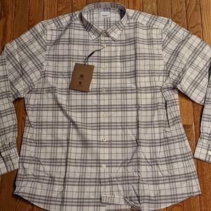 "Mens Burberry ""Simpson"" Checked Button Up Shirt"